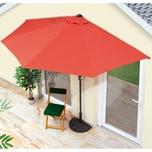 EASYmaxx Sonnenschirm mit UV-Schutz halbrund 270x140cm terracotta
