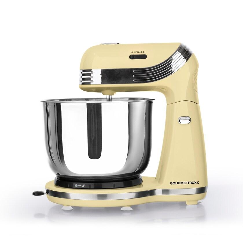 Gourmetmaxx Küchenmaschine Retro 250W vanille