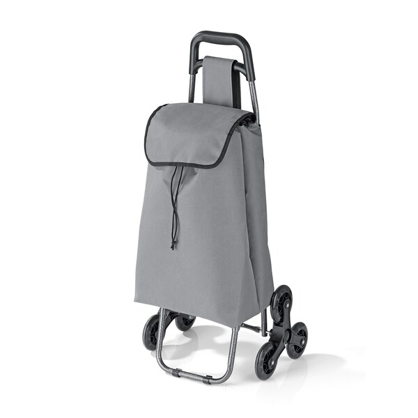EASYmaxx Einkaufstrolley Treppensteiger faltbar in Grau