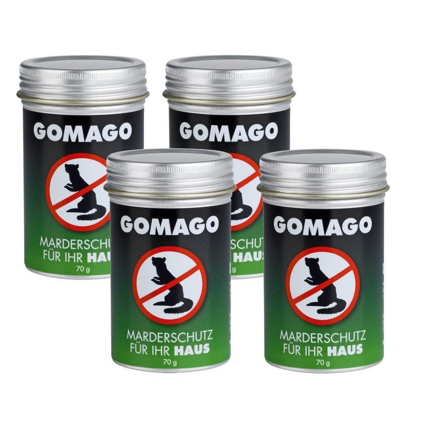 GOMAGO Mardervergrämung Haus 4er-Set