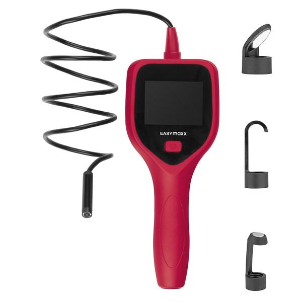 Easymaxx Endoskopkamera mit LED-Licht und 120cm Kamerakabel rot