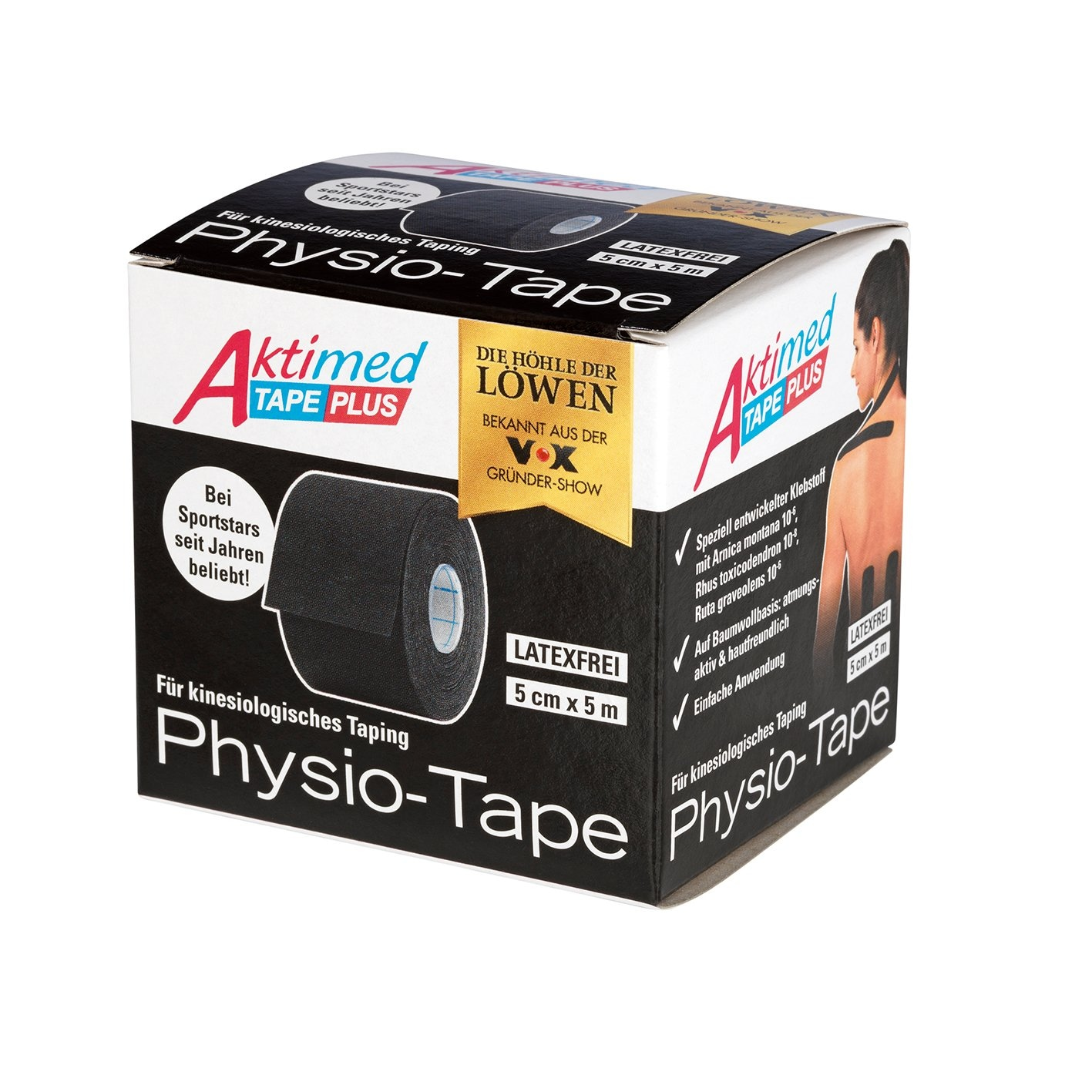 Aktimed Tape Plus 5m schwarz
