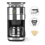 BEEM FRESH-AROMA-PERFECT II Filterkaffeemaschine mit Mahlwerk - Glas BASIC SELECTION