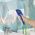 Cleanmaxx Akku-Fenstersauger - ca. 25 Minuten Dauerbetrieb weiß/blau