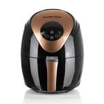 GOURMETmaxx Heißluft-Fritteuse Digital - 2,5 Lilter - 1500 Watt - schwarz/kupfer