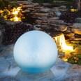 Easymaxx Solar Dekokugel Farbwechsel weiß