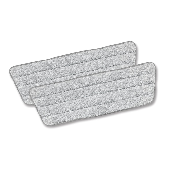 CLEANmaxx Ersatz-Wischtuch 2er-Set in Grau