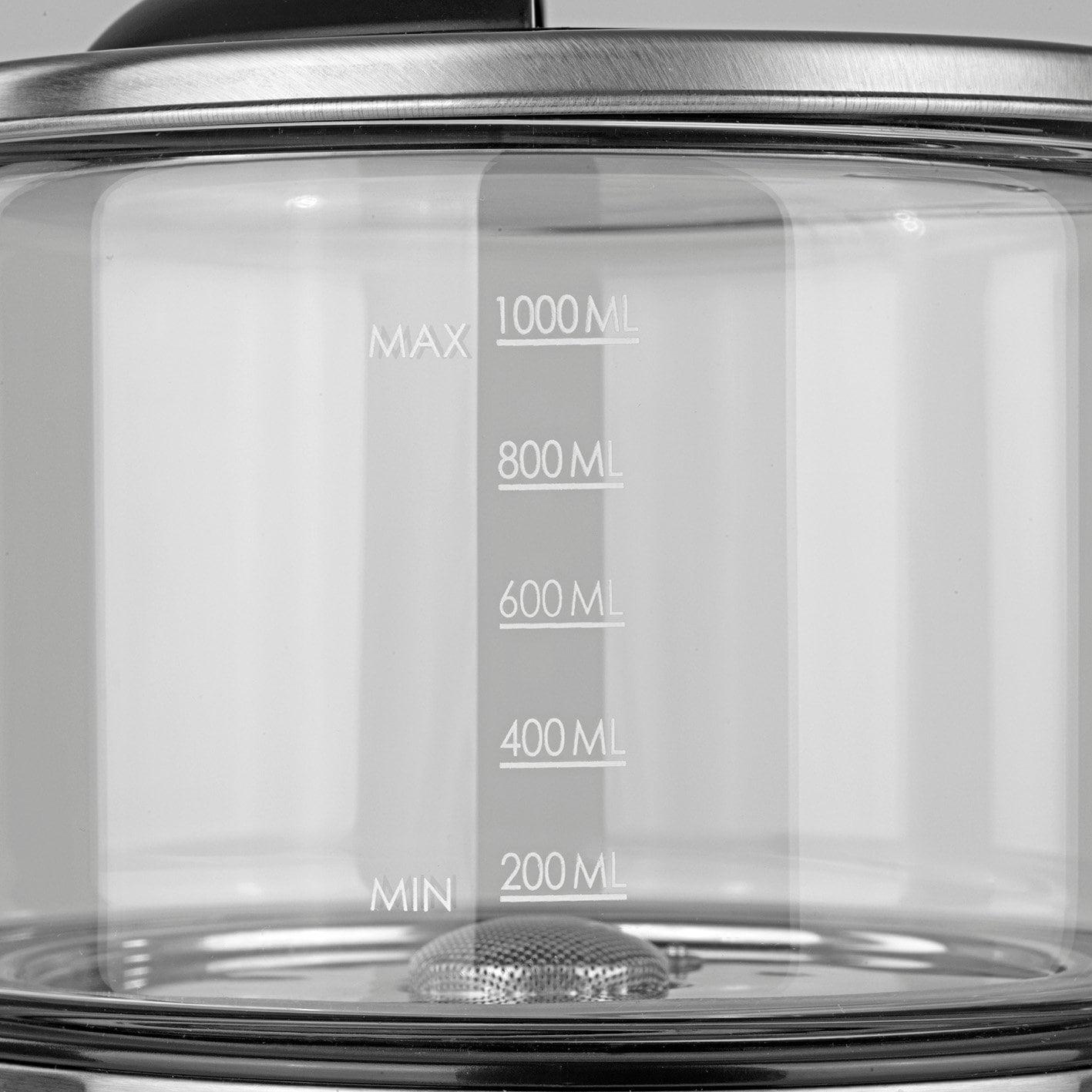 BEEM POUR OVER Filterkaffeemaschine mit Waage - Glas - Edelstahl