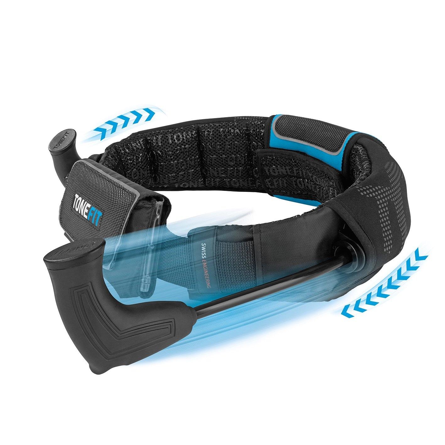 ToneFit Fitnessgürtel für einfaches Ganzkörpertraining beim Laufsport