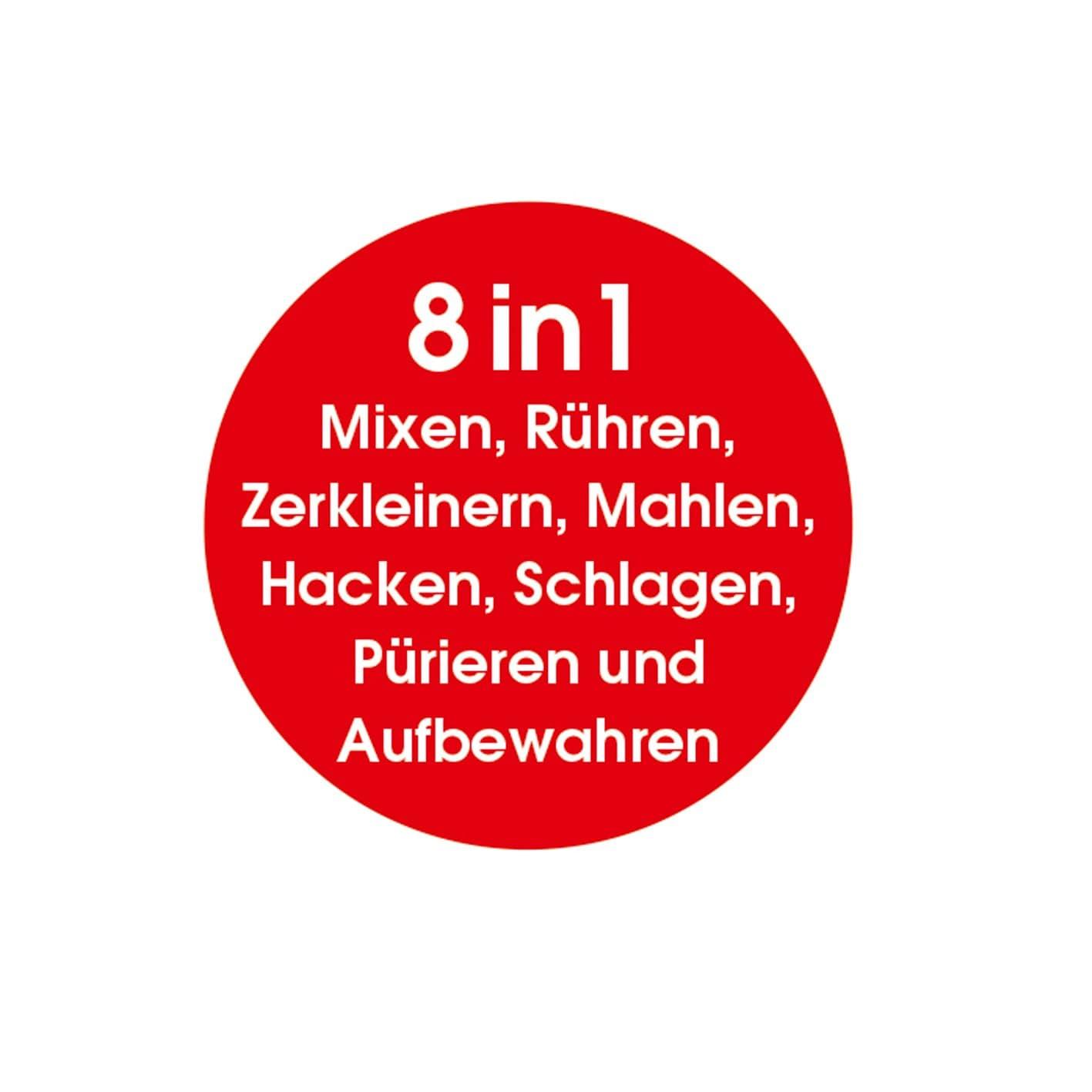 GOURMETmaxx Mr. Magic 400 W in Rot/Weiß, 4-tlg.