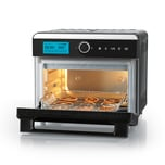 MAXXMEE Heißluft-Ofen Digital - 18 l Fassungsvermögen - schwarz/Edelstahl