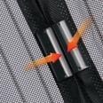 EASYmaxx Moskitonetz Magic Klick mit Magnetverschluß - schwarz 90 x 210 cm
