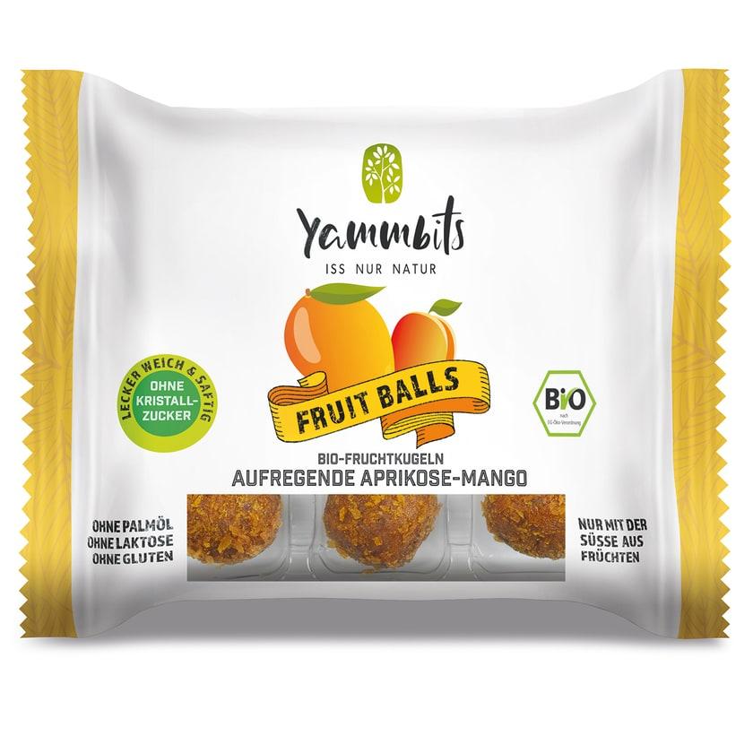 Yammbits BIO-Fruchtkugeln Aprikose-Mango - 6er-Set