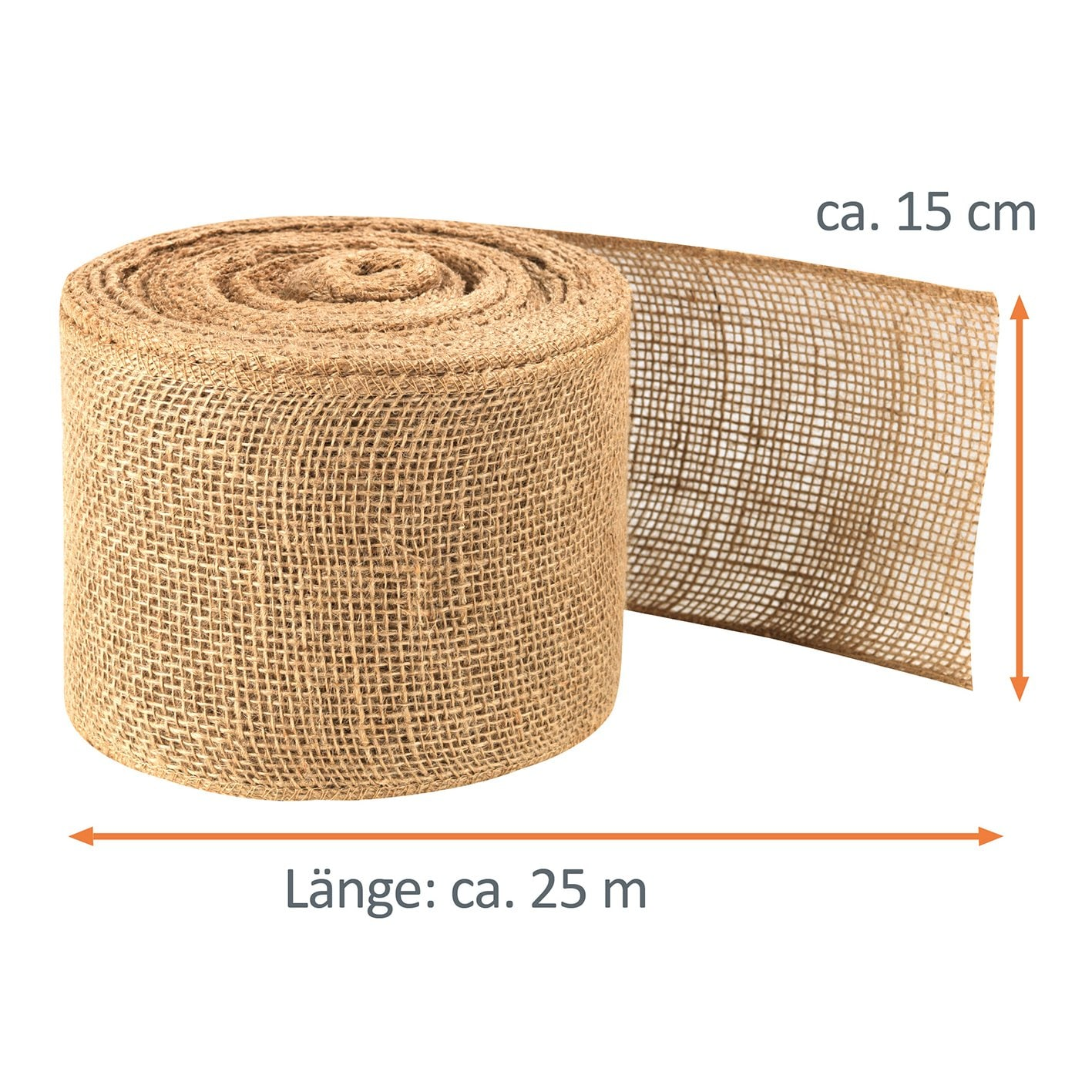 PRIMA GARDEN robustes Jute-Wickelband - ca. 25 m x 15 cm