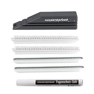 Fugentorpedo Reinigungswerkzeug Set XL 6-tlg. Handstück, 2x Bürste, 2x Steg 3mm, Fugenstift 9ml