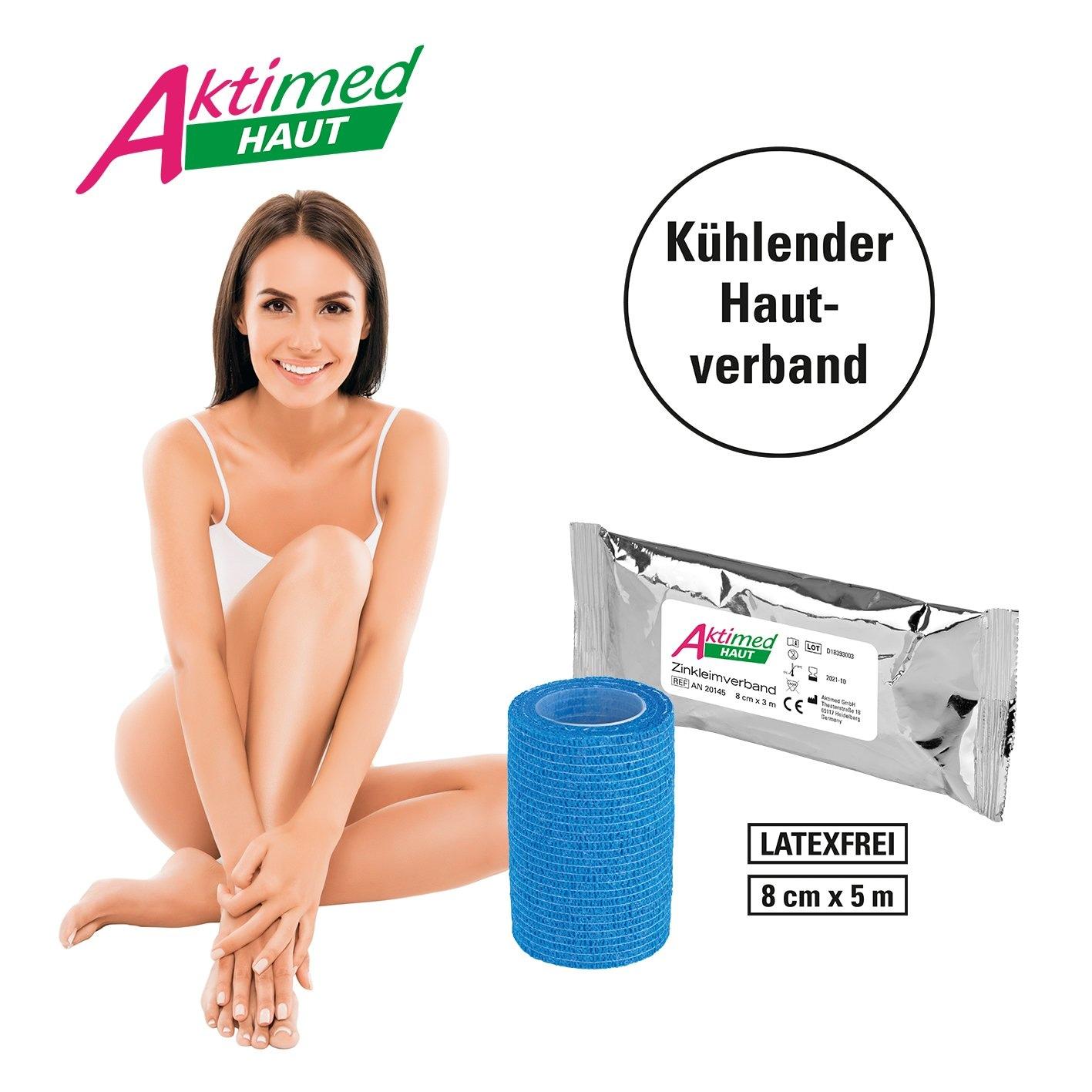 Aktimed Zinkleimverband Haut 3m weiß inkl. Schutzverbad