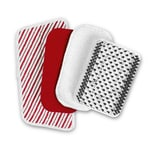 CLEANmaxx Ersatz-Aufsätze 4-tlg. für die Akku-Scheuerbürste rot