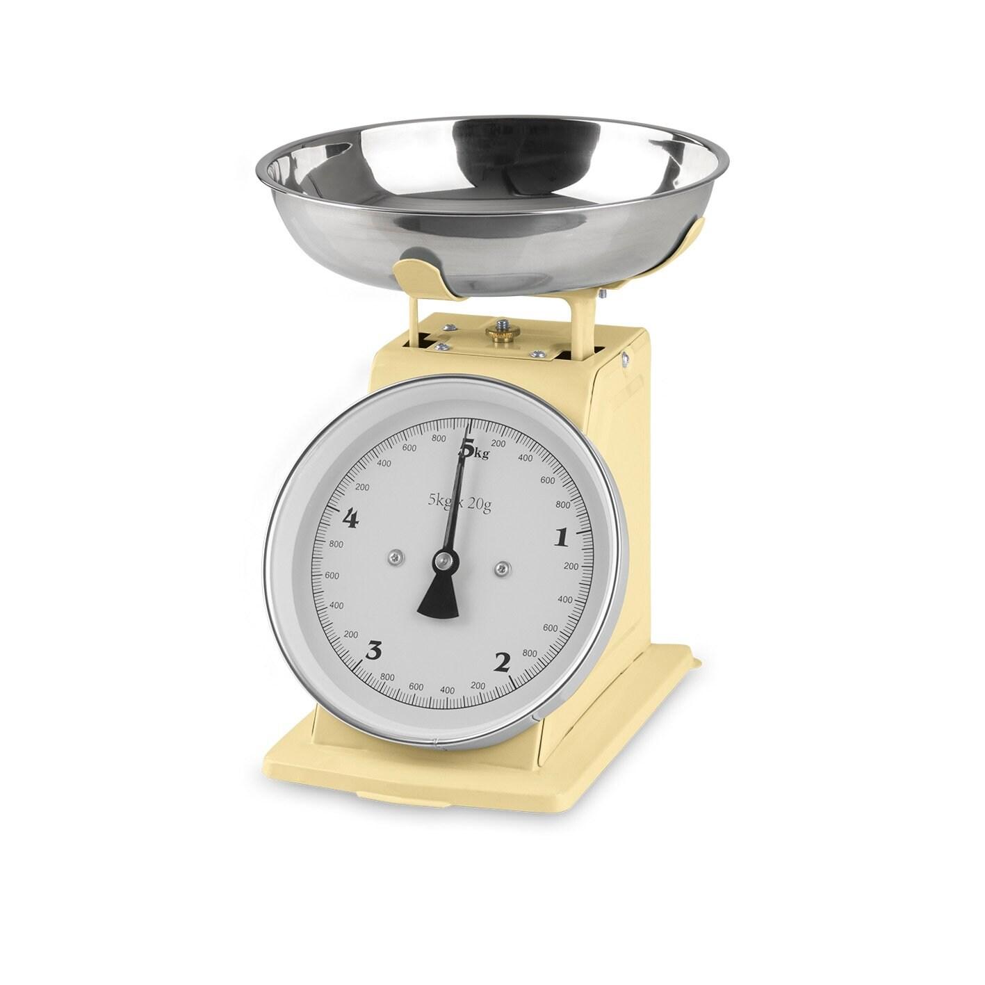 GOURMETmaxx Küchenwaage Retro in Vanille