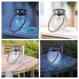 EASYmaxx Solar-Glaskugel - 8 Stunden Leuchtdauer - Cracklee-Glas