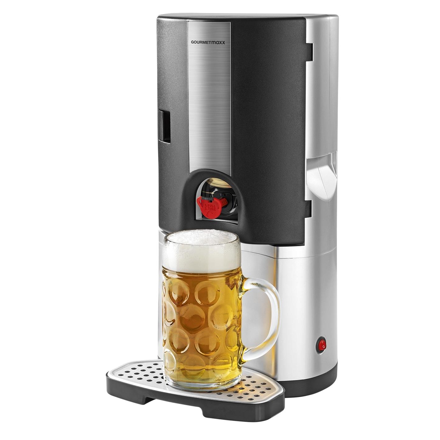 Gourmetmaxx Bierkühler 65W Silber/Schwarz