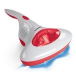 CLEANmaxx Akku-Milben-Handstaubsauger mit UV-C-Licht - rot/weiß