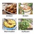 Gourmetmaxx Digital Heißluft-Fritteuse 2,5l 1500W schwarz/beere