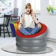EASYmaxx Sessel zum Aufblasen - In- & Outdoor - anthrazit/rot