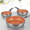 Bratmaxx Keramik-Hochrandpfannen kupferfarben 3-teilig