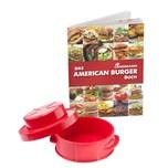 "LANDMANN Grill-Set ""American Burger"" rot mit Rezeptbuch ""Selection"""