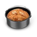 GOURMETmaxx Brotbackkorb 1,6 l in Anthrazit für die Heißluft-Fritteuse