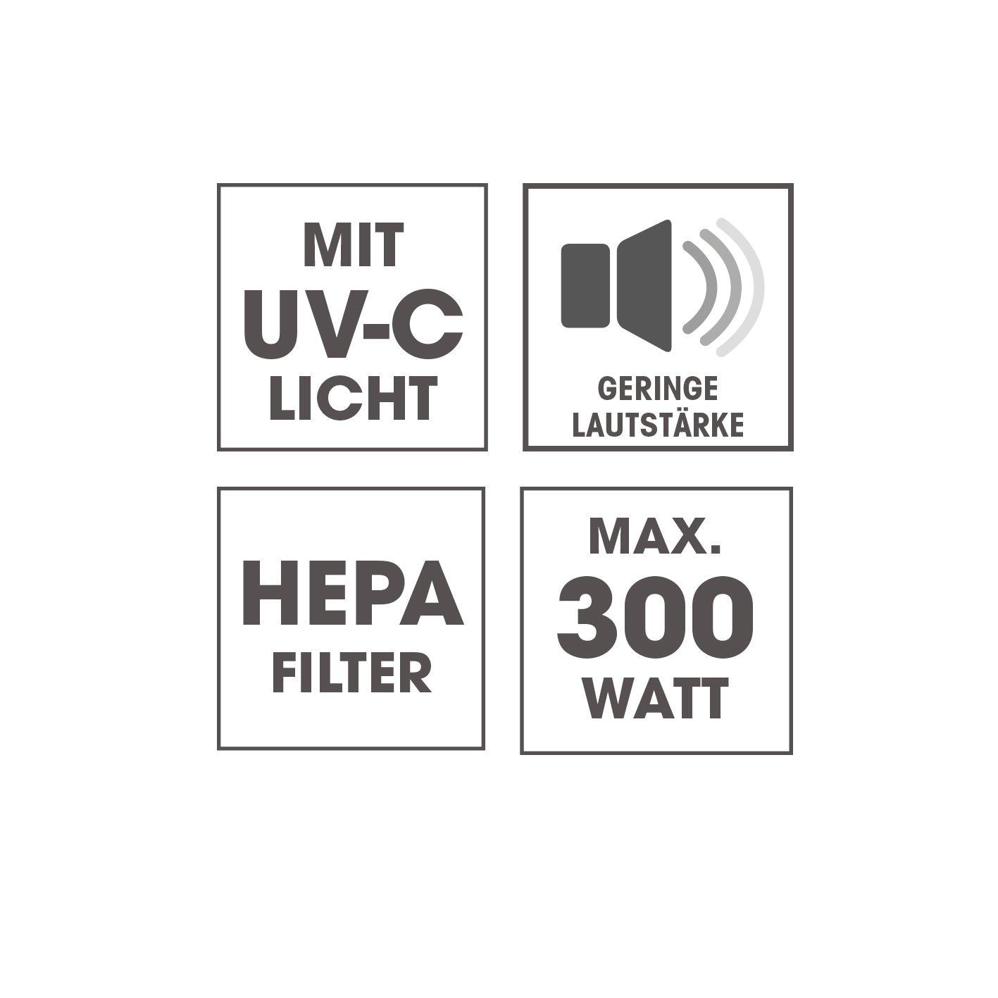CLEANmaxx Milben-Handstaubsauger mit UV-C-Licht 300W in Weiß/lLmegreen