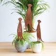 EASYmaxx Gartenstecker Erdmännchen in Rost-Optik - Für drinnen & draußen