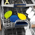 CLEANmaxx Reinigungspad Set Silikon 3-tlg. 12/14cm blau/gelb/limegreen