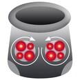 Vitalmaxx Shiatsu-Massagegeraet für Füsse 12V grau