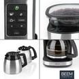 Beem Fresh Aroma Perfect II Filterkaffeemaschine mit Mahlwerk 1000W schwarz