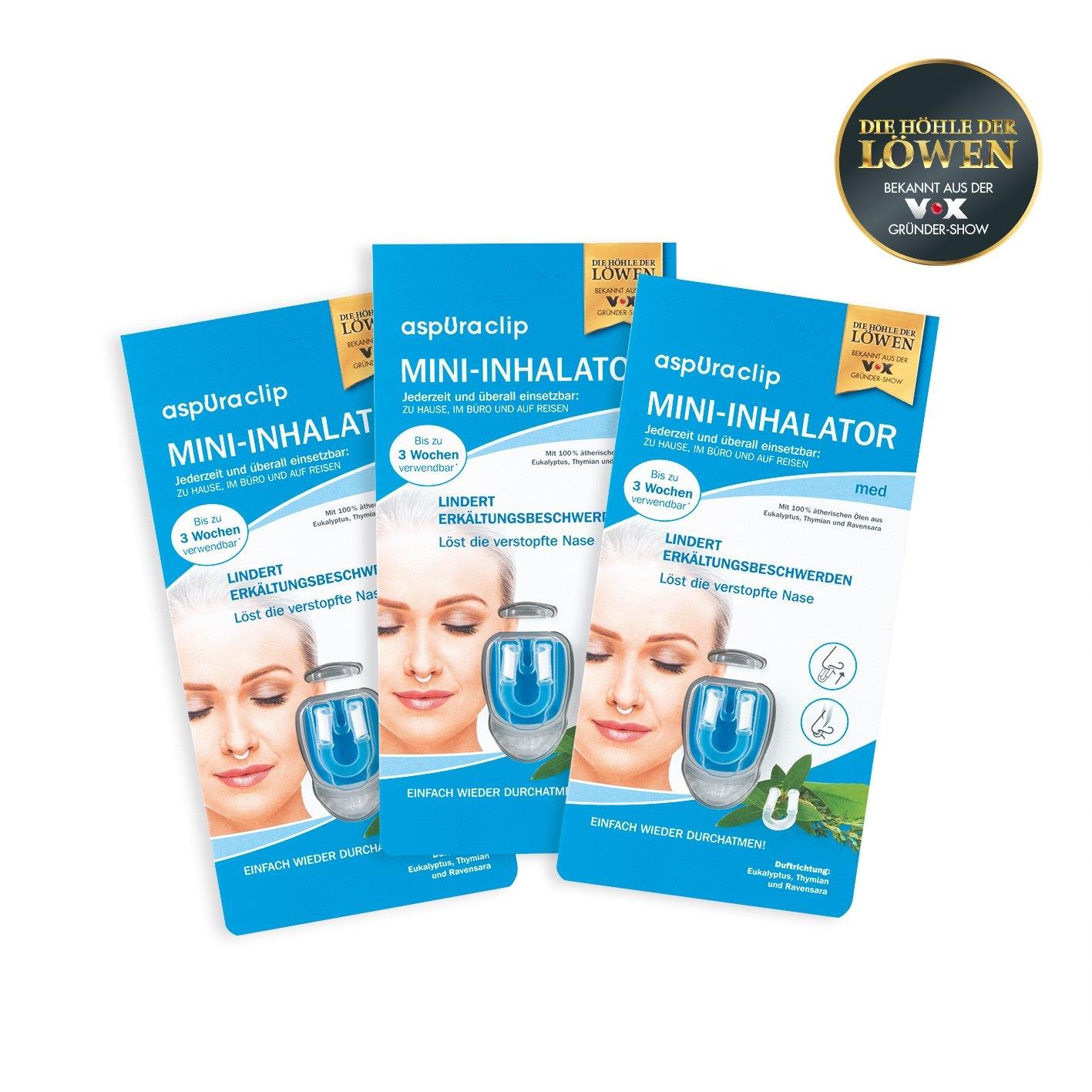 aspUraclip Mini-Inhalator 3x med