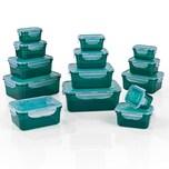 GOURMETmaxx Frischhaltedosen Klick-it - 28-tlg. - smaragdgrün
