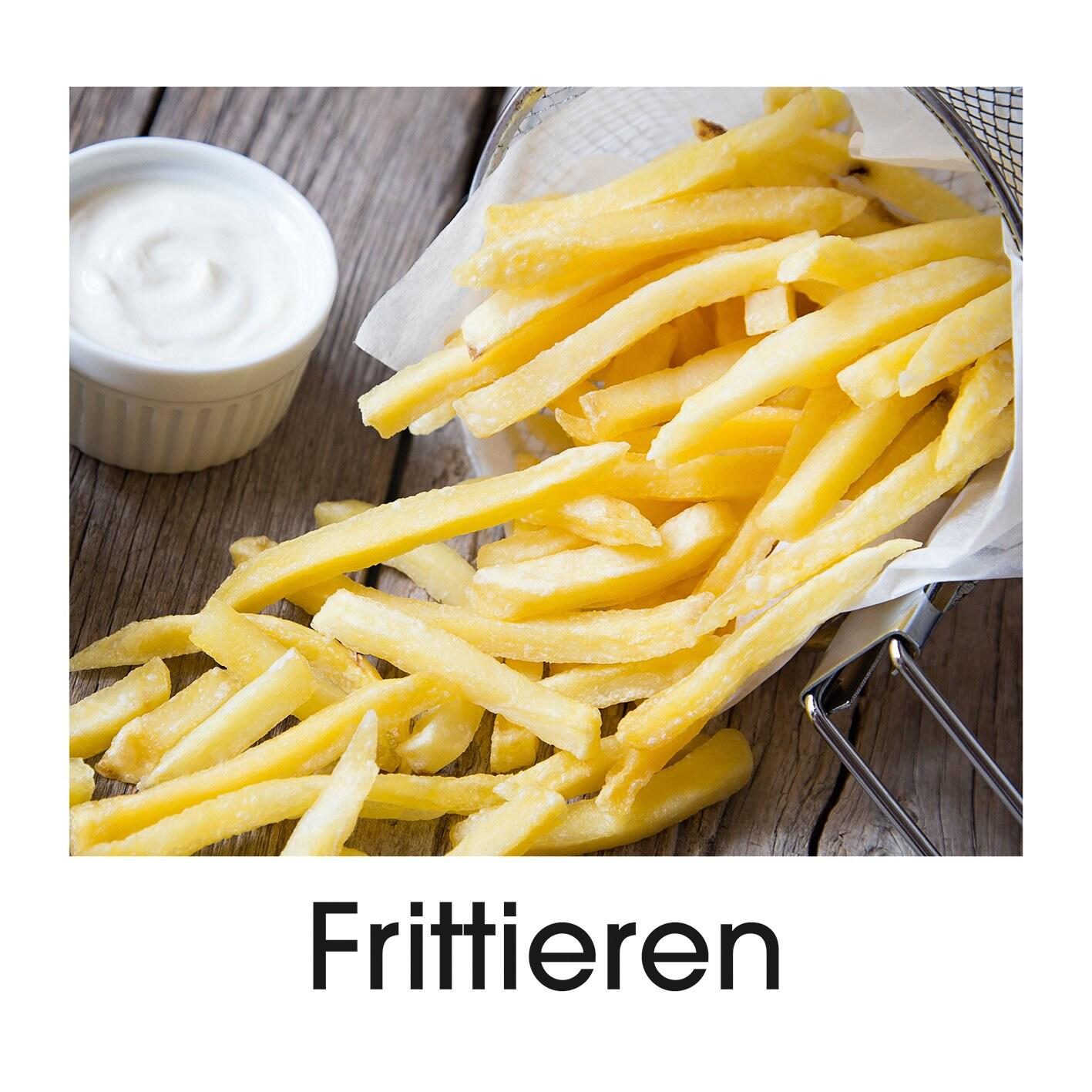 GOURMETmaxx Heißluft-Fritteuse Digital - Fritteuse, Ofen & Drehgrill in einem - Schwarz
