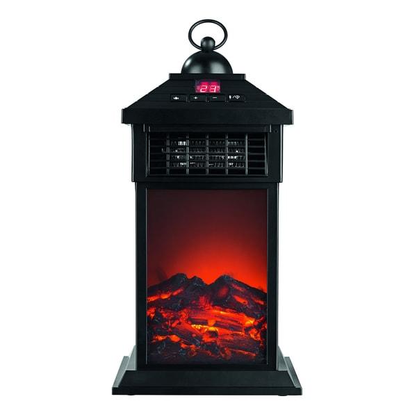 Easymaxx LED-Laterne Flammeneffekt & Wärme 400W schwarz