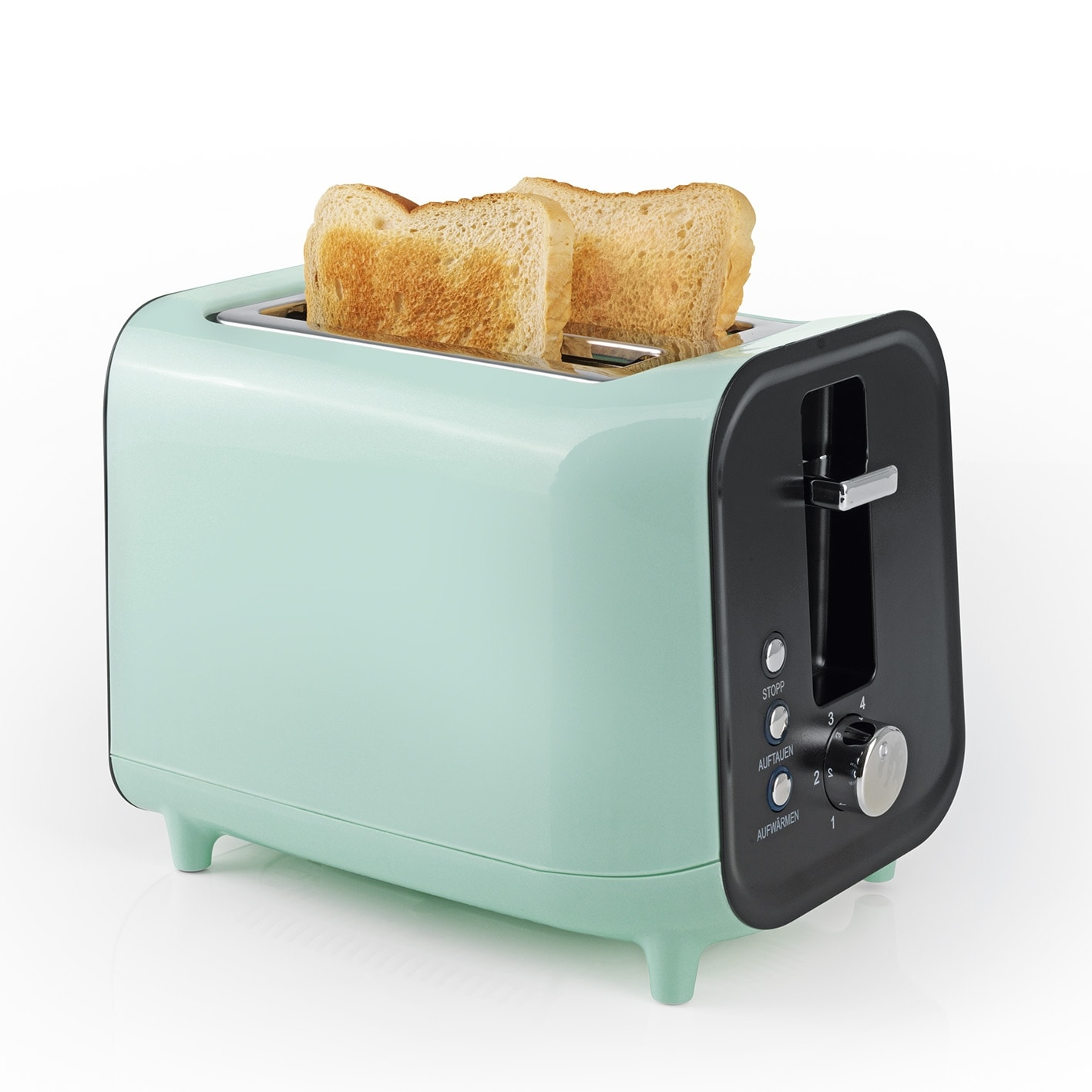GOURMETmaxx Toaster Retro 800W in Mint