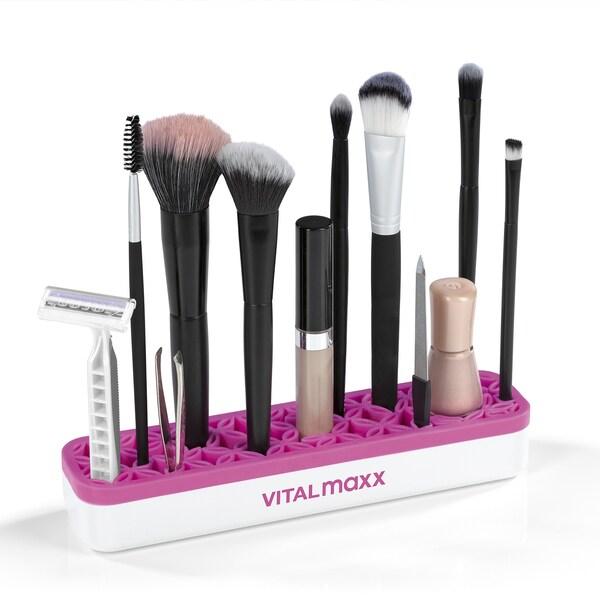 VITALmaxx Organzier Make-Up 2er-Set in Weiß/Pink