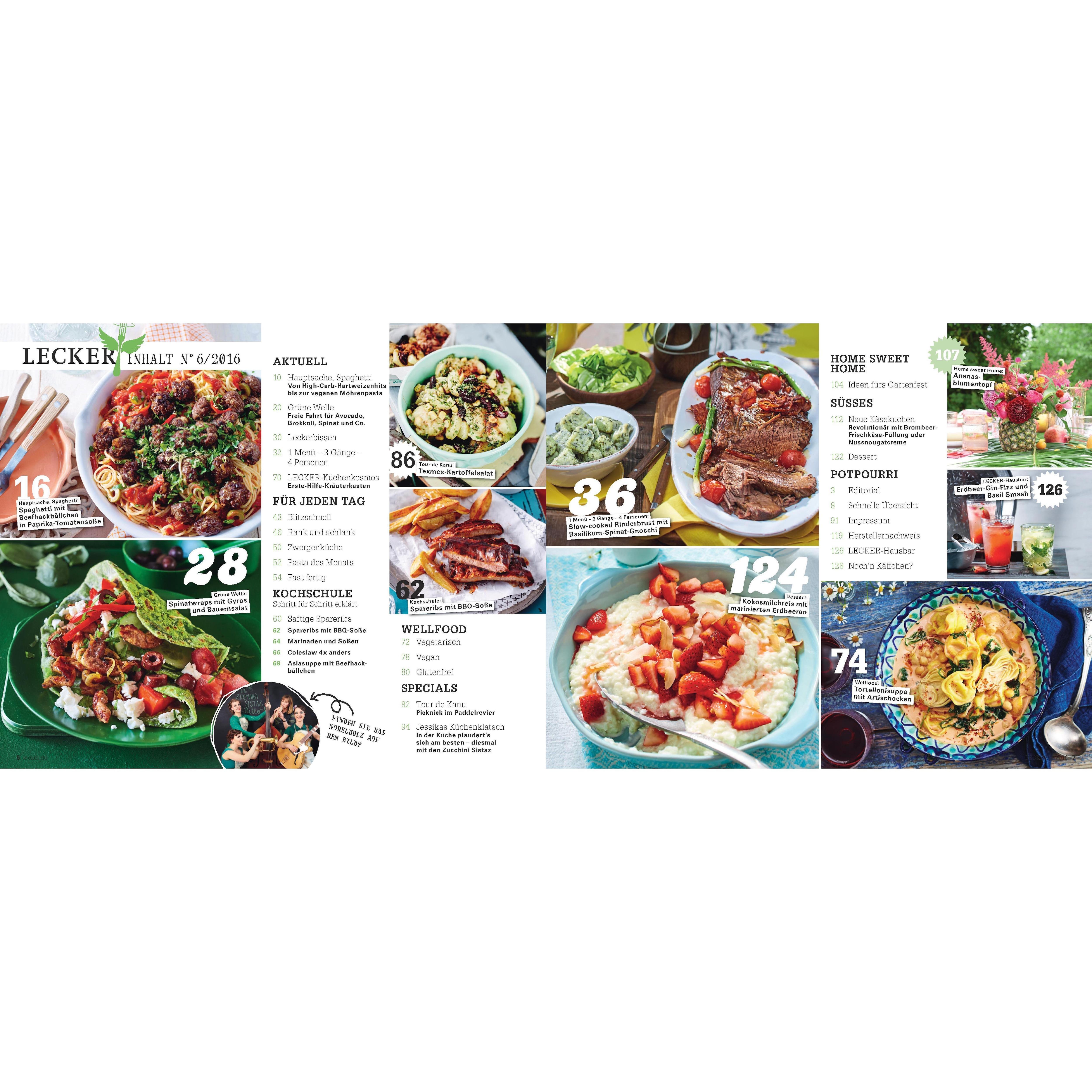 LECKER 6/2016 30-Minuten Sommerküche bei REWE online bestellen!