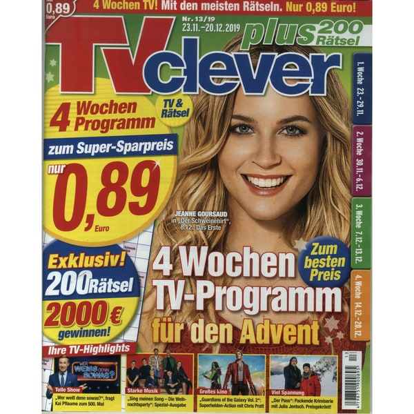 TV Clever 13/2019 4 Wochen TV-Programm