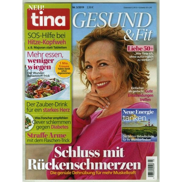 Tina SH Gesund & Fit 3/2019 Schluss mit Rückenschmerzen