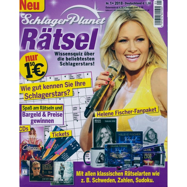 Schlager Planet Rätsel 1/2018 Helene Fischer-Fanpaket