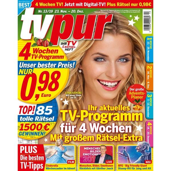 TV Pur 13/2019 Ihr aktuelles TV-Programm für 4 Wochen