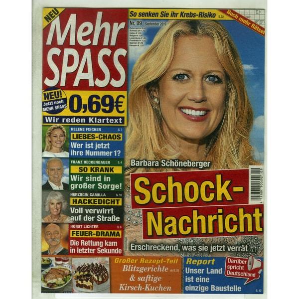 Mehr Spass 9/2019 Schock-Nachricht