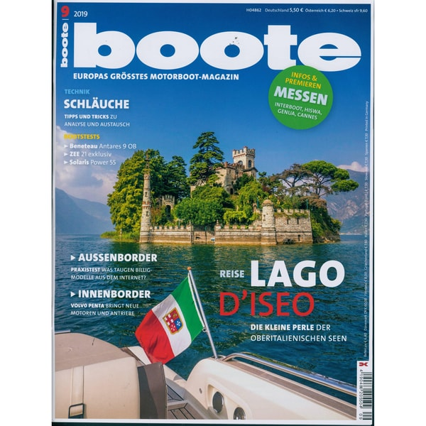 Boote 9/2019 Reise LAGO D'ISEO