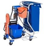 Homcom Putzwagen mit 4 Fahreimern blau/orange
