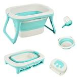 Homcom Babybadewanne mit Waschbecken und Shampoobecher